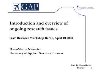 Prof. Dr. Hans-Martin Niemeier