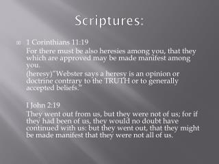 Scriptures: