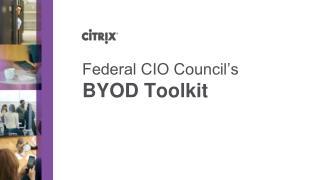 Federal CIO Council�s BYOD Toolkit