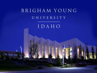 The BYU Idaho Self-Study