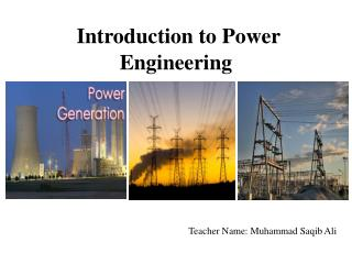 Introduction to Power Engineering