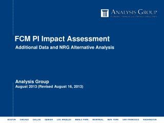 FCM PI Impact Assessment