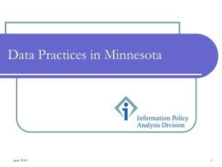 Data Practices in Minnesota