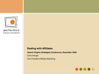 Dealing with Affiliates