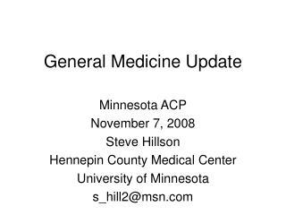 General Medicine Update