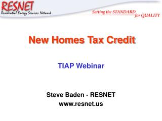 New Homes Tax Credit