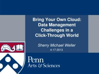 Bring Your Own Cloud:  Data Management Challenges in a  Click-Through World