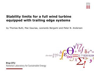 Stability limits for a full wind turbine equipped with trailing edge systems