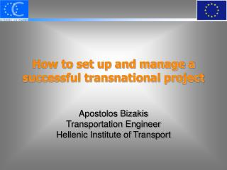 How to set up and manage a successful transnational project