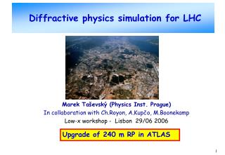 Diffractive physics simulation for LHC