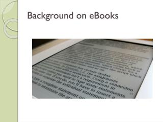 Background on eBooks