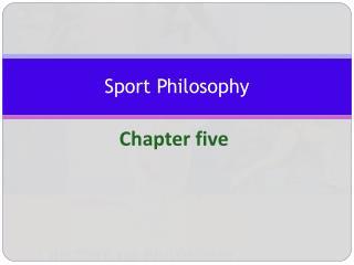 Sport Philosophy