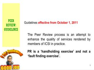 PEER REVIEW:  GUIDELINES