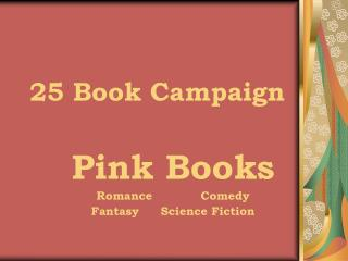 25 Book Campaign