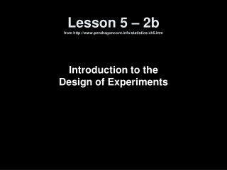 Lesson 5  –  2b  from pendragoncove/statistics/ch5.htm