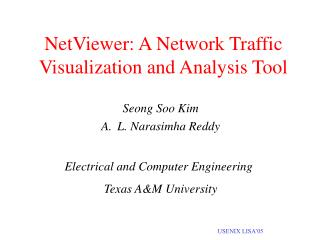NetViewer: A Network Traffic Visualization and Analysis Tool
