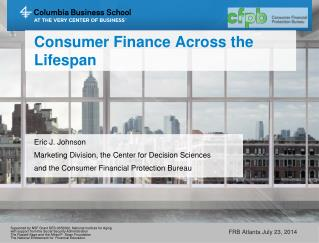 Consumer Finance  Across  the  Lifespan