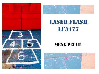 Laser flash LFA477