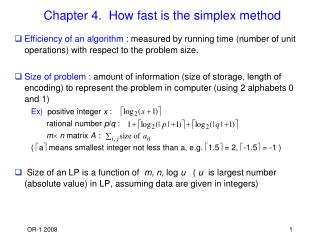 Chapter 4.  How fast is the simplex method