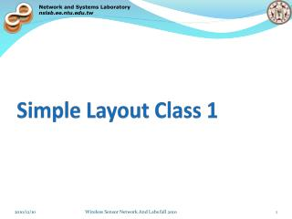 Simple Layout Class 1
