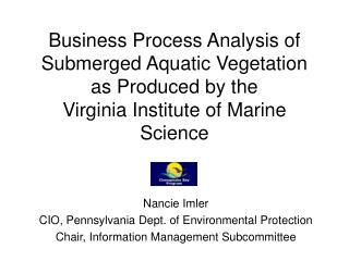 Nancie Imler CIO, Pennsylvania Dept. of Environmental Protection
