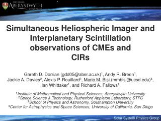 Simultaneous Heliospheric Imager and Interplanetary Scintillation observations of CMEs and  CIRs