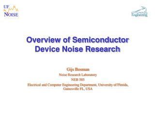 Overview of Semiconductor Device Noise Research