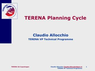 TERENA Planning Cycle