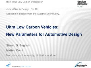 July's Rise & Design: No 10   Lessons in design from the automotive industry,