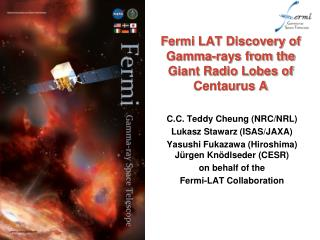 Fermi LAT Discovery of Gamma-rays from the Giant Radio Lobes of Centaurus A
