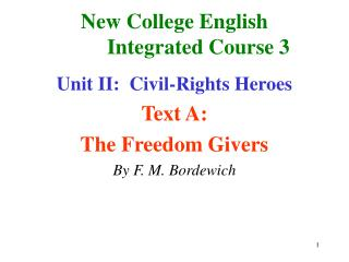 New College English          Integrated Course 3