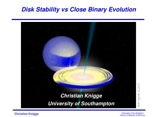 Disk Stability  vs  Close Binary Evolution