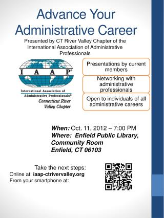 Advance Your Administrative Career