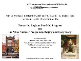 MCB Instructional Program Presents MCB-Specific Study Abroad Opportunities