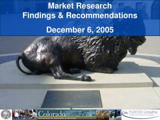Market Research  Findings & Recommendations December 6, 2005