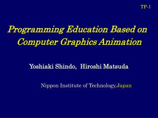 Programming Education Based on