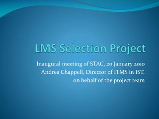 LMS Selection  Project
