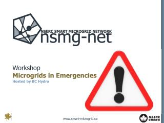 Workshop Microgrids in Emergencies Hosted by BC Hydro