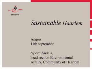 Sustainable  Haarlem