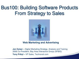 Bus100: Building Software Products From Strategy to Sales