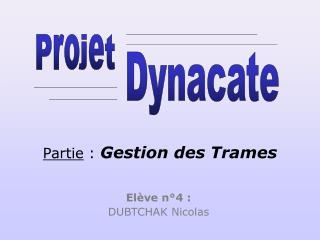 Elève n°4 : DUBTCHAK Nicolas