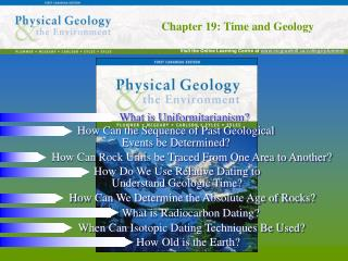 Chapter 19: Time and Geology