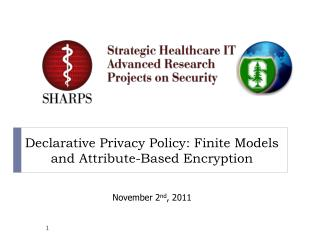 Declarative  Privacy  P olicy : Finite  Models  and  Attribute-Based Encryption
