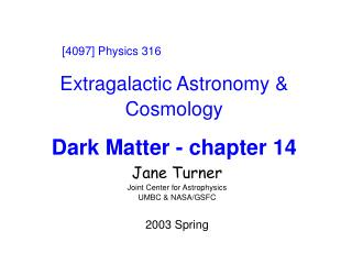 Extragalactic Astronomy & Cosmology Dark Matter - chapter 14