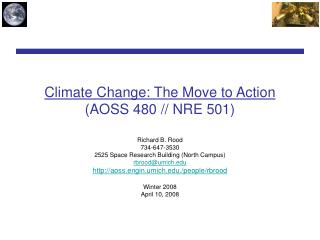 Climate Change: The Move to Action (AOSS 480 // NRE 501)