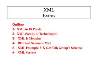 XML Extras