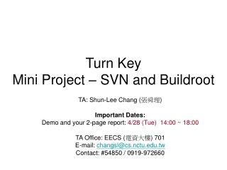 Turn Key Mini Project – SVN and Buildroot