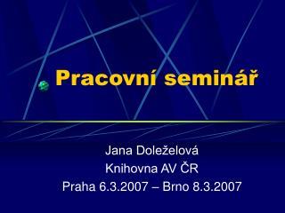 Pracovní seminář