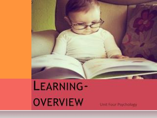 Learning- overview