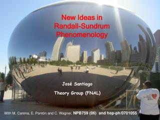 New Ideas in  Randall-Sundrum  Phenomenology